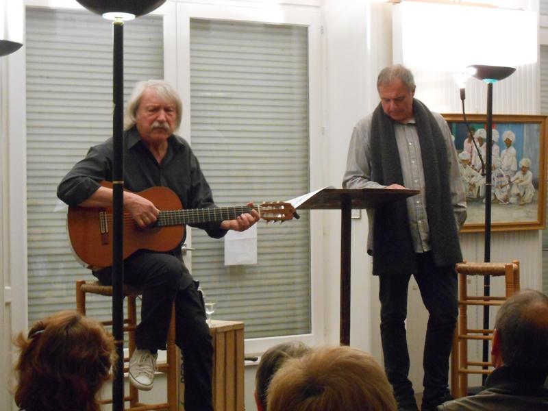 Gilles Cherbut et Michel Grange en représentation